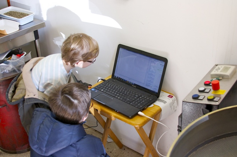 Bastian et Rémi analyse la courbe de température