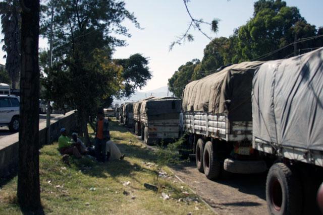 Camions chargés