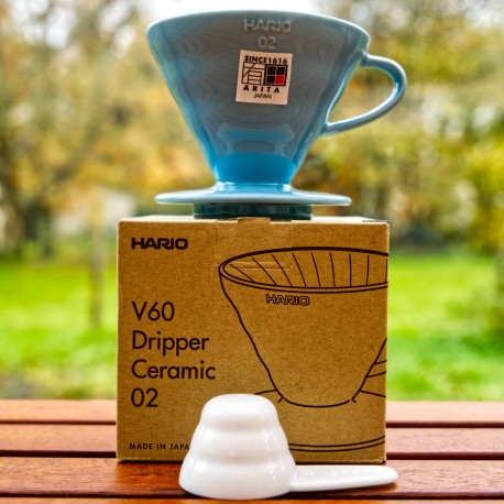 V60 Hario Dripper taille 02 Clear Blue